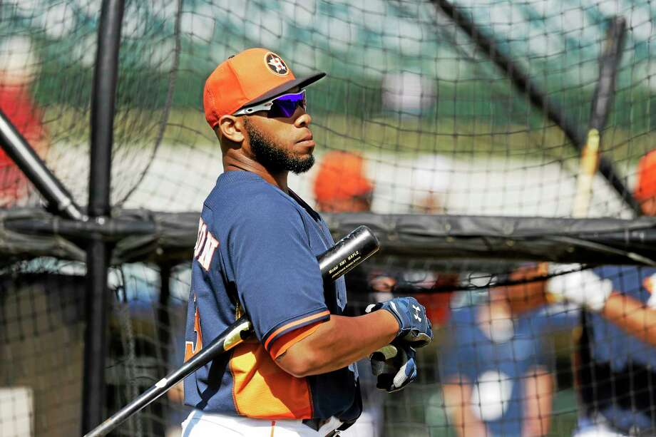 Houston Astros first base prospect Jon Singleton may get the call to the big leagues soon. Photo: Carlos Osorio — The Associated Press  / AP