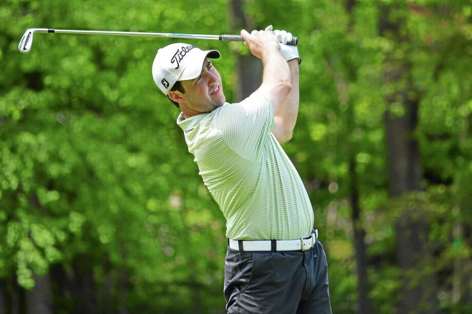 Former Yale standout Tom McCarthy tees off at last week's Palmer Cup. Photo: Photo Courtesy Of The CSGA
