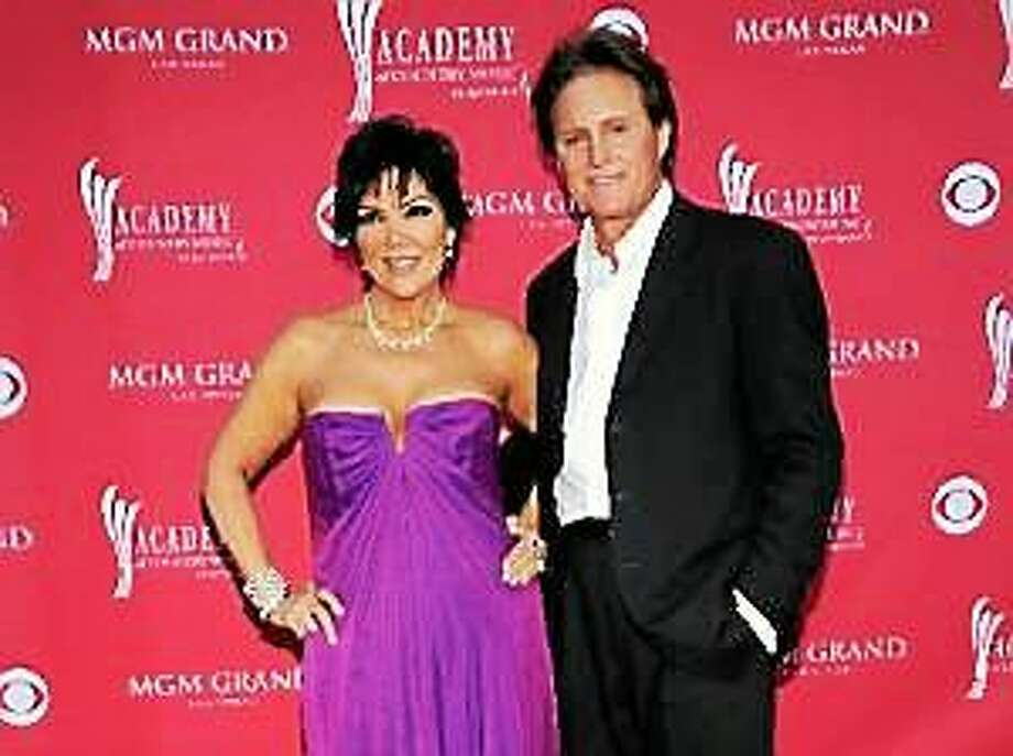 This April 5, 2009 file photo shows Kris Jenner, left, and her husband Bruce Jenner at the 44th Annual Academy of Country Music Awards in Las Vegas. Photo: (Dan Steinberg — The Associated Press)