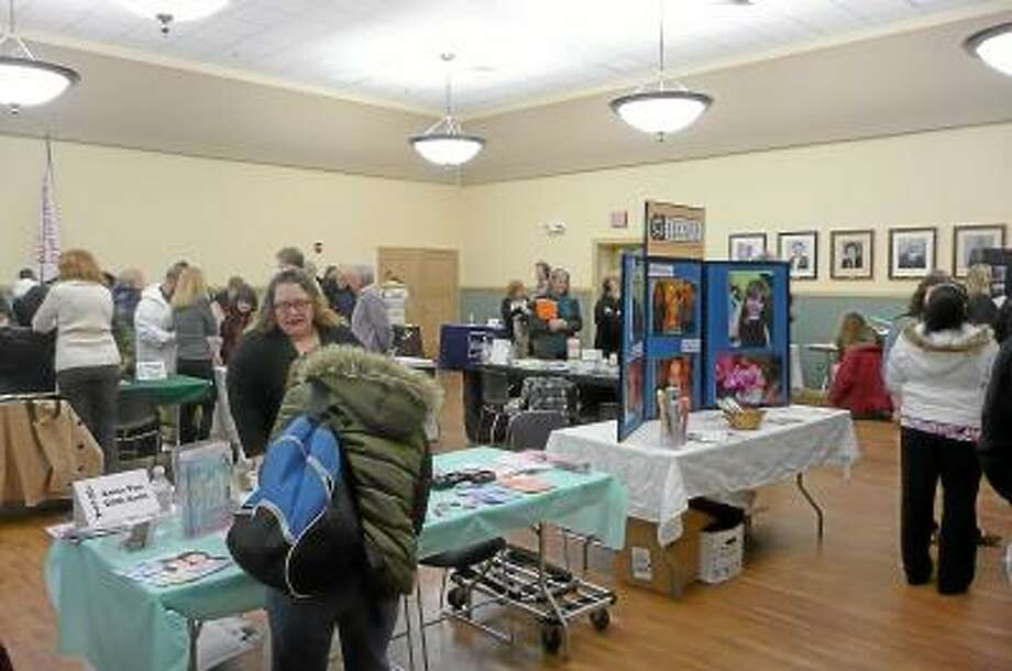 The Northwest CT Chamber of Commerce hosted its annual job fair in the City Hall auditorium. Kate Hartman/Register Citizen.
