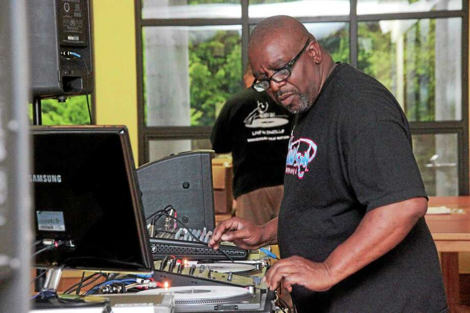 Tony Tone from Cold Crush Brothers DJed the hip-hop night in Litchfield. (Shako Liu-The Register Citizen) Photo: Journal Register Co.