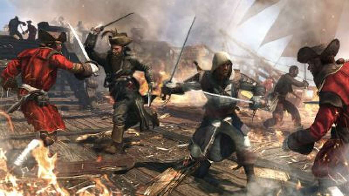 This video game image released by Ubisoft shows a scene from