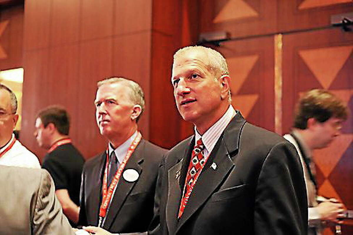 Shelton Mayor Mark Lauretti at the GOP convention.