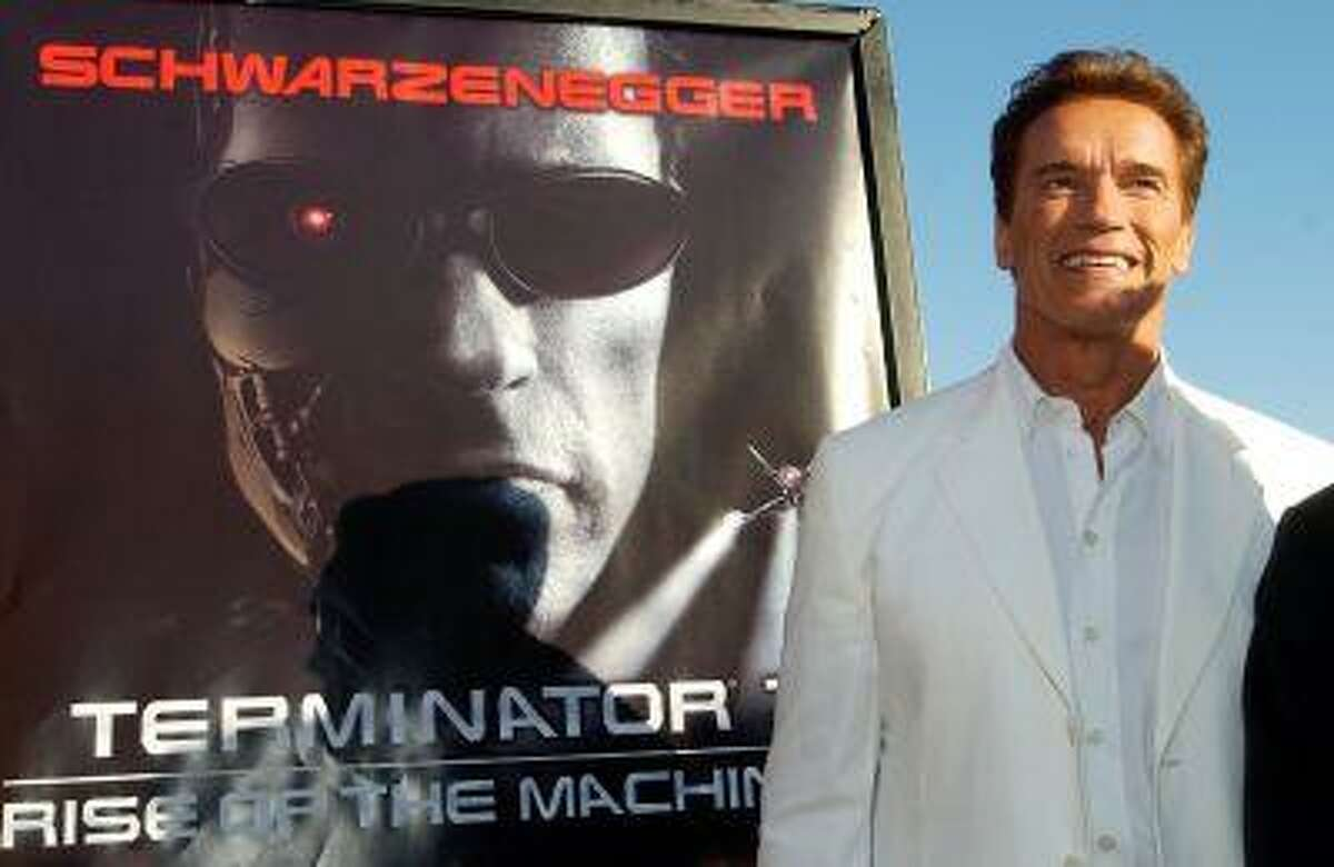In this June 30, 2003 file photo, Arnold Schwarzenegger, star of the new film