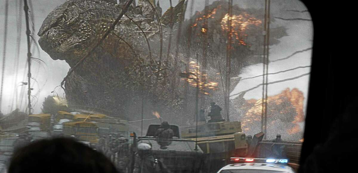 """This film image released by Warner Bros. Pictures shows a scene from """"Godzilla."""""""