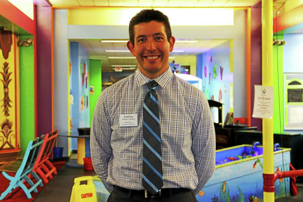 Matthew Tynan, executive director of KidsPlay, stands inside the museum on Friday, Sept. 19, in downtown Torrington. Tynan is tasked with helping the museum grow and is already helping shape its expansion goals.