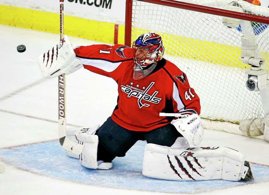 Former Washington Capitals goalie Jaroslav Halak has inked a four-year deal with the New York Islanders. Photo: Alex Brandon — The Associated Press  / AP