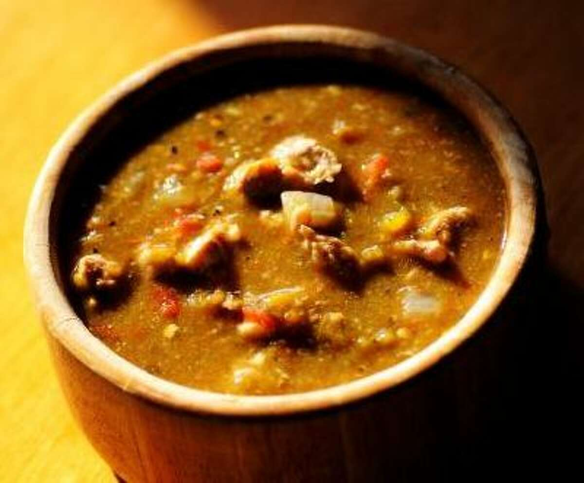 Pork green chile, one of our most-requested recipes.