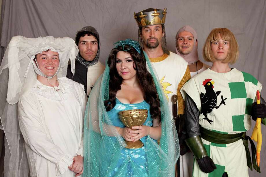 Submitted photo - TriArts Sharon The cast of 'Spamalot' will take the stage this weekend and through July 7 to perform the popular, award-winning musical spoof of the Monty Python movie.