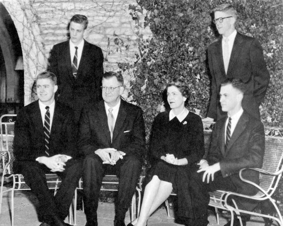 This undated photo shows the Koch family photo on holiday card. Photo: Special Collections And University Archives, Wichita State University Libraries  / Wichita State