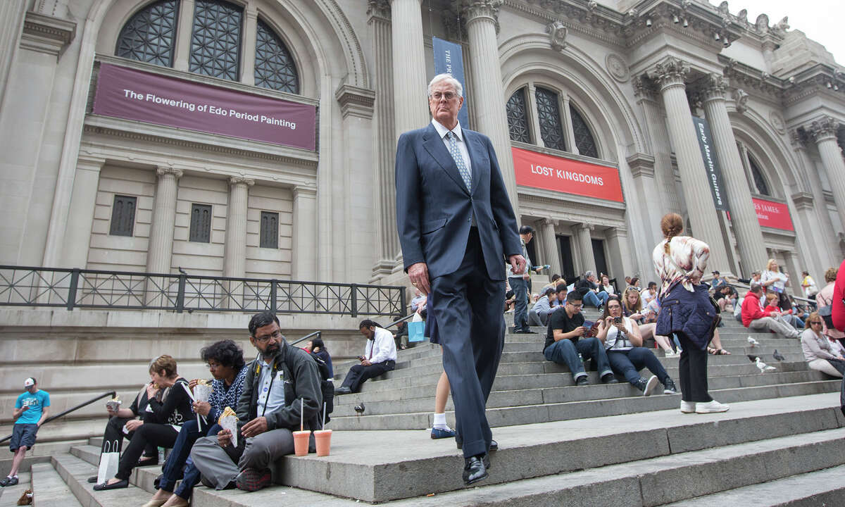 This June 11 photo shows David Koch outside the Metropolitan Museum of Art in New York City. Koch, the executive vice president of Wichita's Koch Industries, is a trustee of the museum.