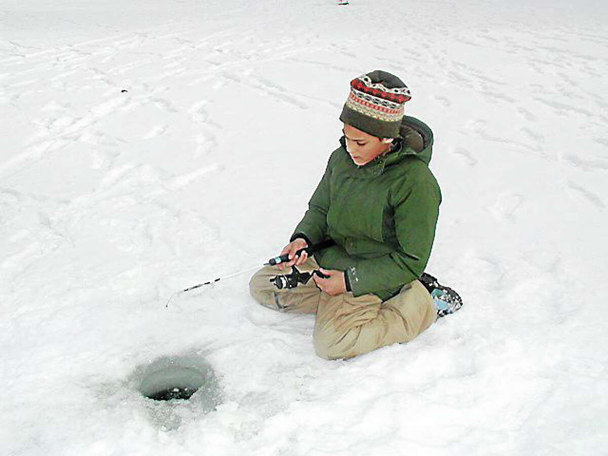 The No Child Left Inside festival will feature activities like ice fishing, as seen here during last year's event.