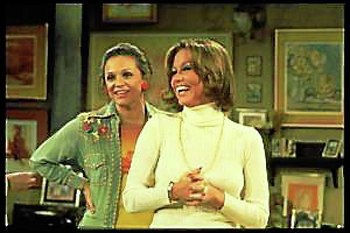 """Mary Tyler Moore, right, and Valerie Harper, from a scene in """"The Mary Tyler Moore Show."""""""