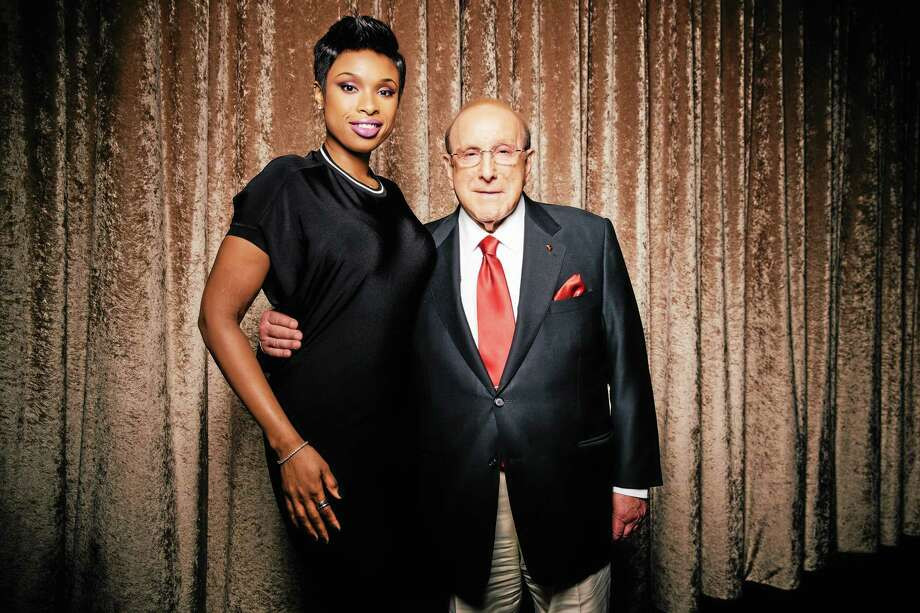 Clive Davis, right, chief creative officer of Sony Music, and singer-actress Jennifer Hudson pose at The Beverly Hilton during press day on Thursday, January 23, 2014, in Beverly Hills, Calif. Hudson will be performing at Davis' annual pre-Grammy gala on Saturday, Jan. 25, 2014, in Los Angeles. Photo by Casey Curry/Invision/AP Photo: Casey Curry/Invision/AP / Invision