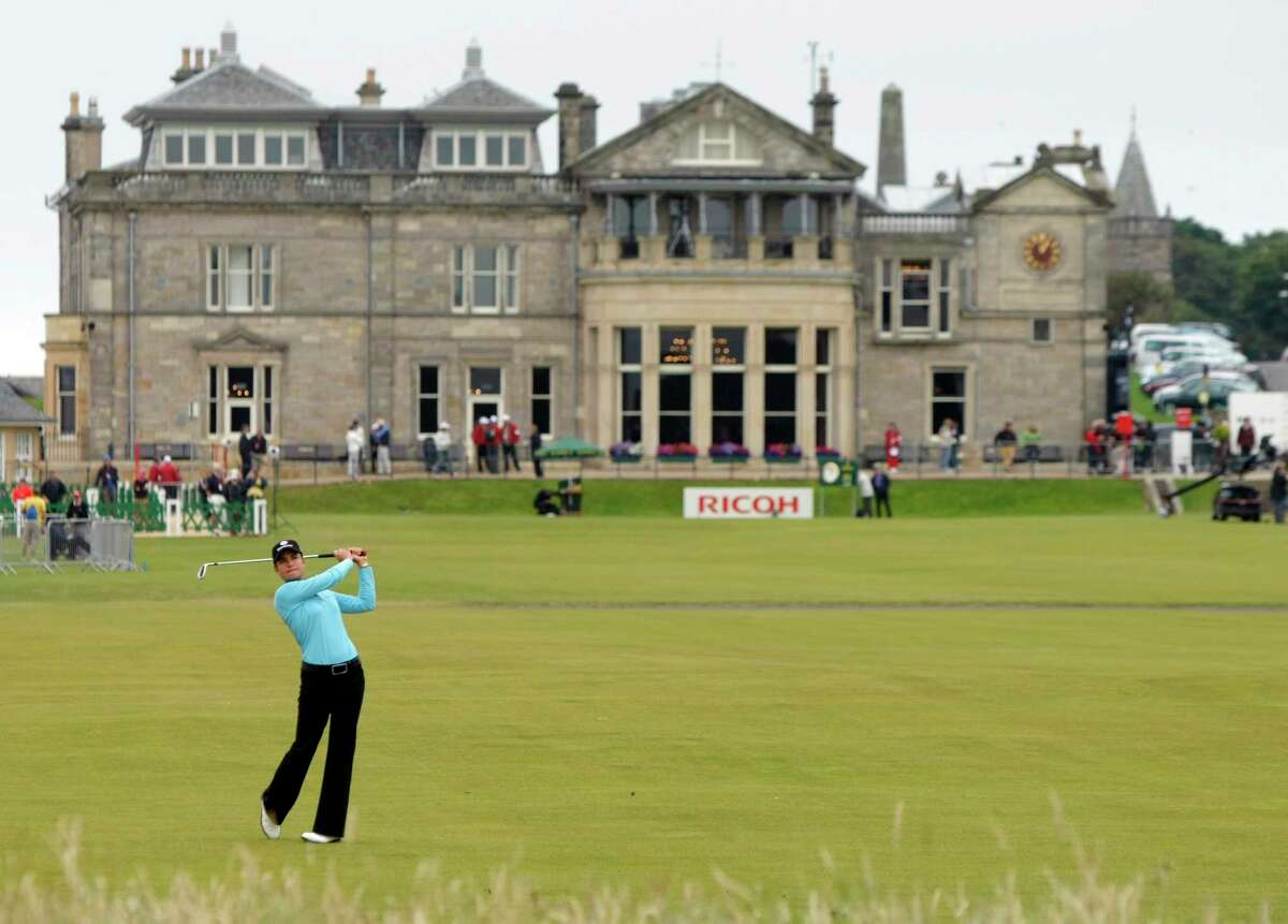 In this Aug. 5, 2007 file photo, Lorena Ochoa plays a shot off the first fairway during the Women's British Open on the Old Course at the Royal and Ancient Golf Club in St Andrews, Scotland.