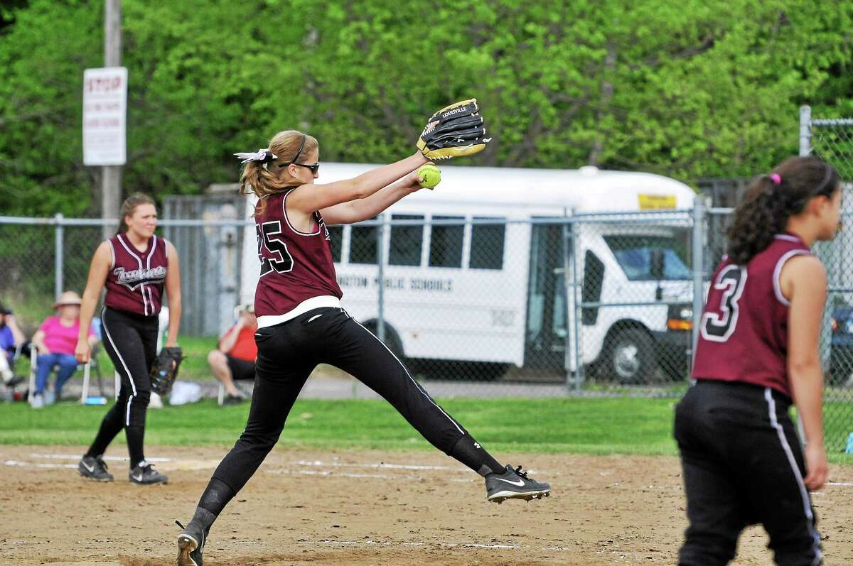 Torrington's Sydney Matzko struck out 13 batters on her way to throwing her second perfect game, fifth no-hitter, of the season in the Red Raiders' 16-0 win over Wilby.