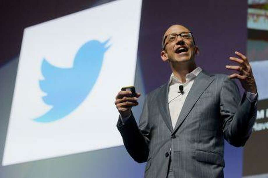 Chief Executive Officer at Twitter, Dick Costolo from USA gives a speech at the Cannes Lions 2012, International Advertising Festival in Cannes, southern France, Wednesday, June 20, 2012. The Cannes Lions International Advertising Festival is a world's meeting place for professionals in the communications industry. (AP Photo/Lionel Cironneau) Photo: ASSOCIATED PRESS / AP2012
