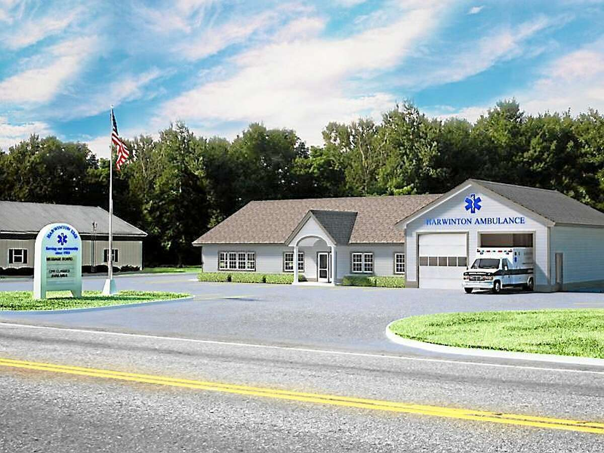 Rendering of the future headquarters for the Harwinton Ambulance Association. Contributed photo.