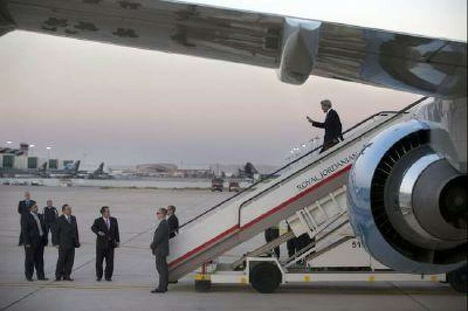 Secretary of State John Kerry arrives in Amman on June 26, where he is expected to have meetings on the Israeli-Palestinian peace process.