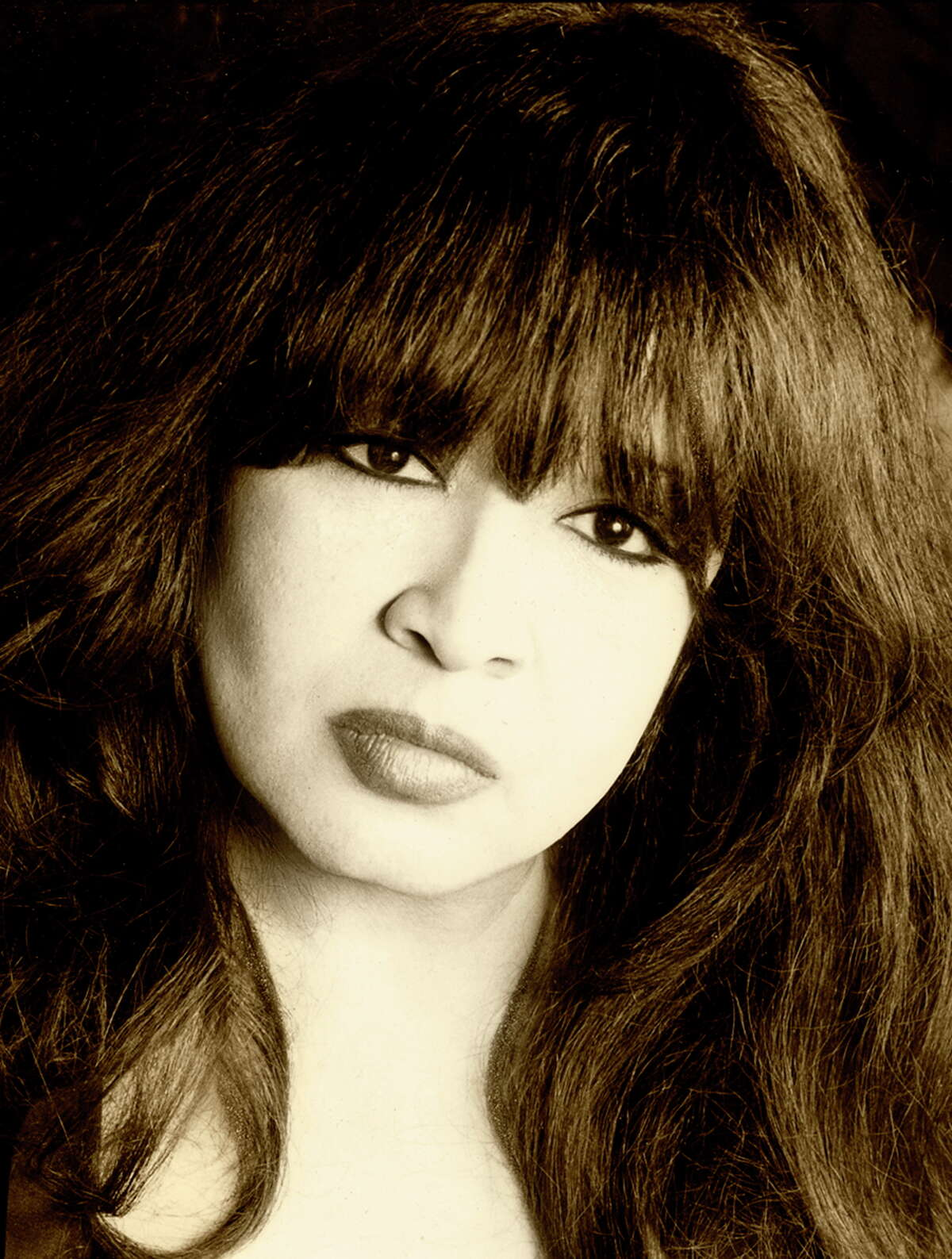 Singer Ronnie Spector today, in a photo provided by