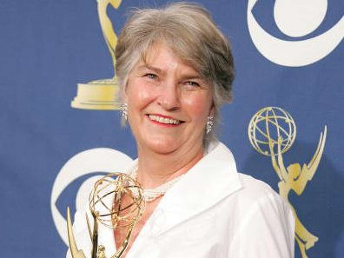Producer Rebecca Eaton poses with Emmy for Outstanding Miniseries in the press room at the 57th Annual Emmy Awards held at the Shrine Auditorium on September 18, 2005 in Los Angeles, California.