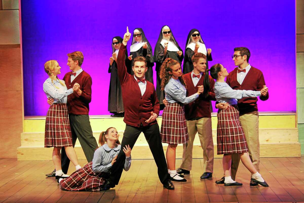Photo courtesy of Seven Angels Theater If you were ever a student at Catholic school, memories will come flooding back as Seven Angels Theatre in Waterbury presents ìDo Black Patent Leather Shoes Really Reflect Up?î until Sunday, June 15.
