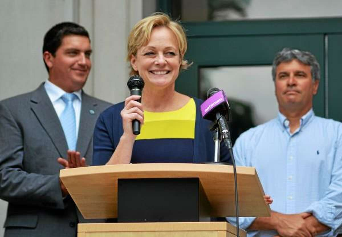 Torrington City Council member and Republican Elinor Carbone announced on Thursday afternoon that she will be running for mayor. (Tom Caprood-Register Citizen)