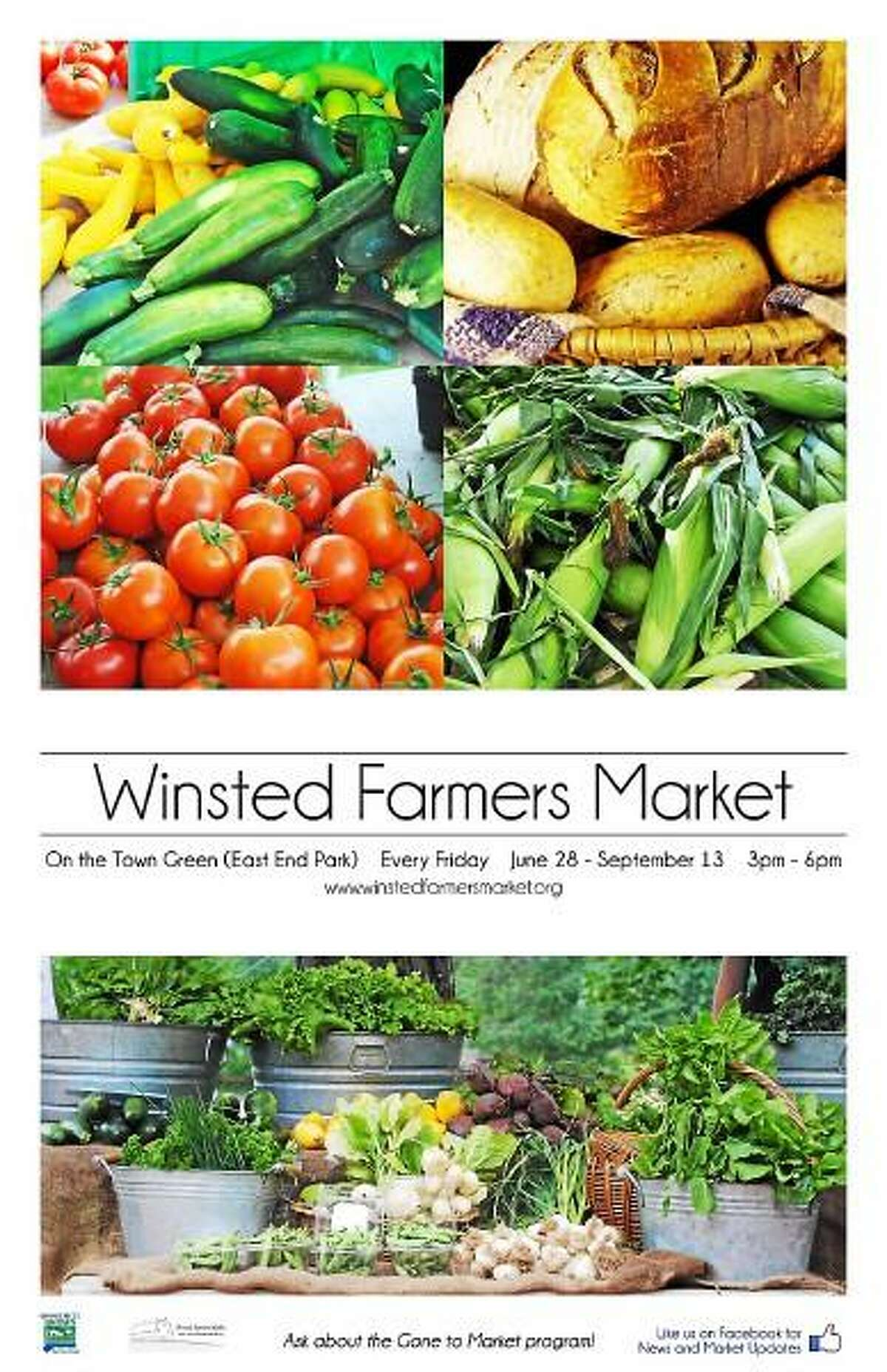 Provided photo - The Winsted Farmer's Market 2013 poster.