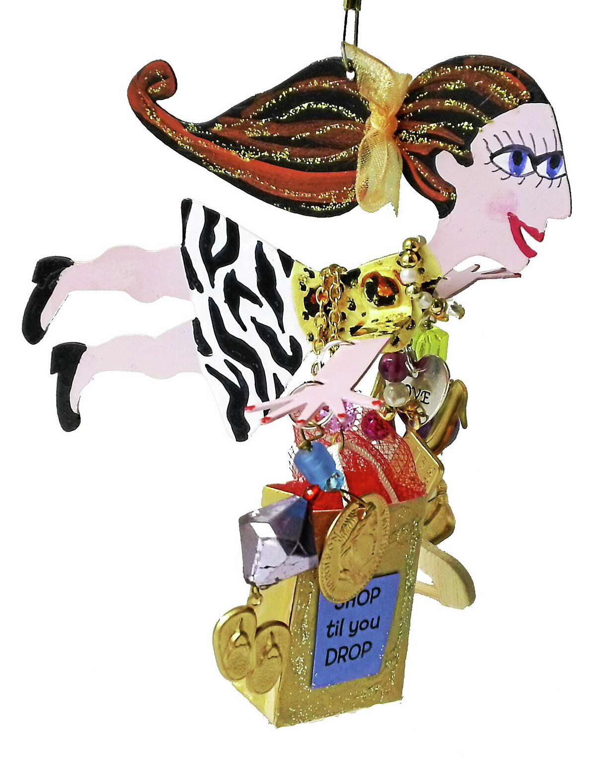 Submitted Photo. One of Karen Rossi's Fanciful Flights pieces. This one is called Lady Madonna Shopper.