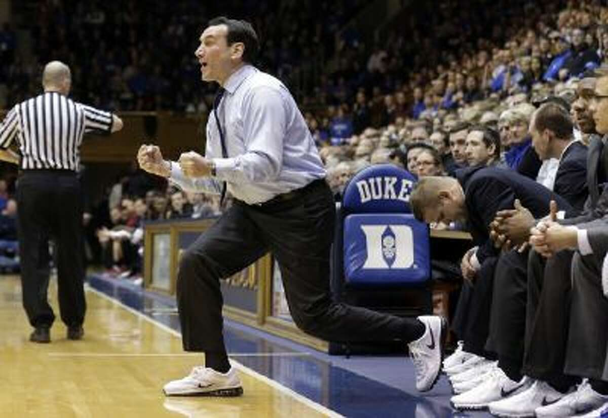 Duke coach Mike Krzyzewski earned his 900th career victory Saturday as the Blue Devils beat Florida State in Durham, N.C.