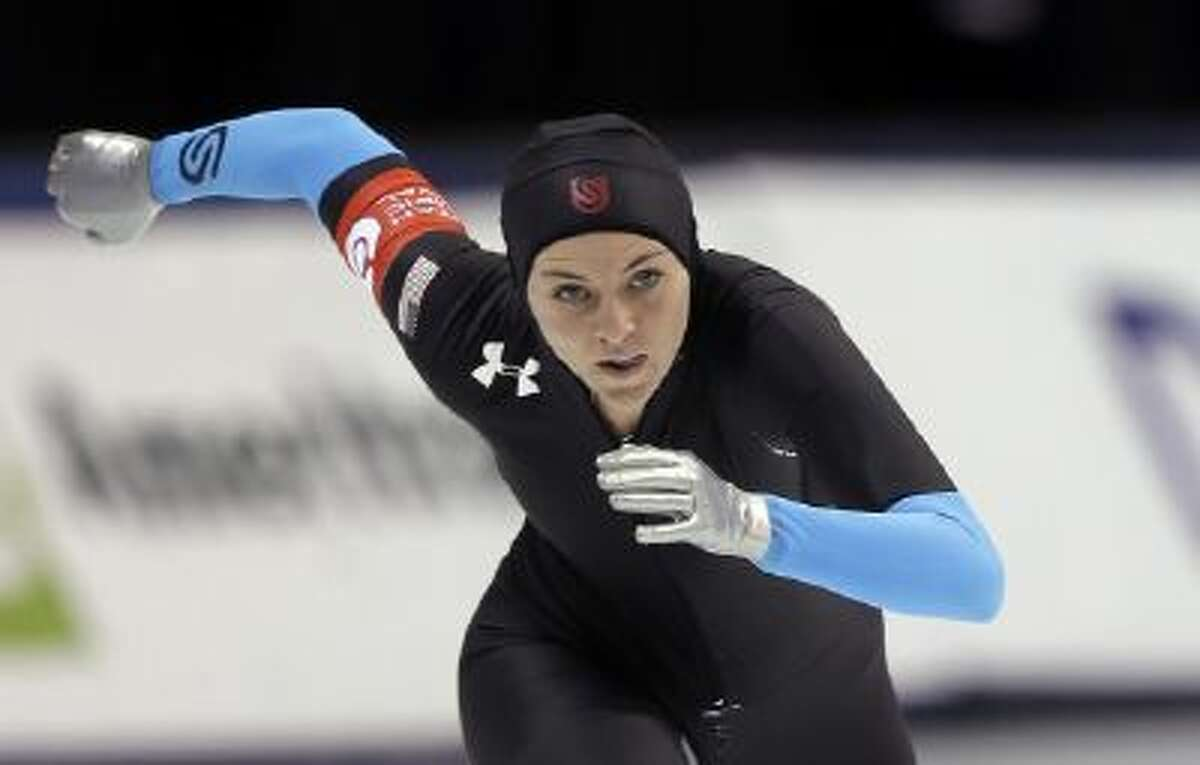 Heather Richardson competes in the women's 1,500 meters during the U.S. Olympic speedskating trials Dec. 31, 2013, in Kearns, Utah. Richardson won the event.