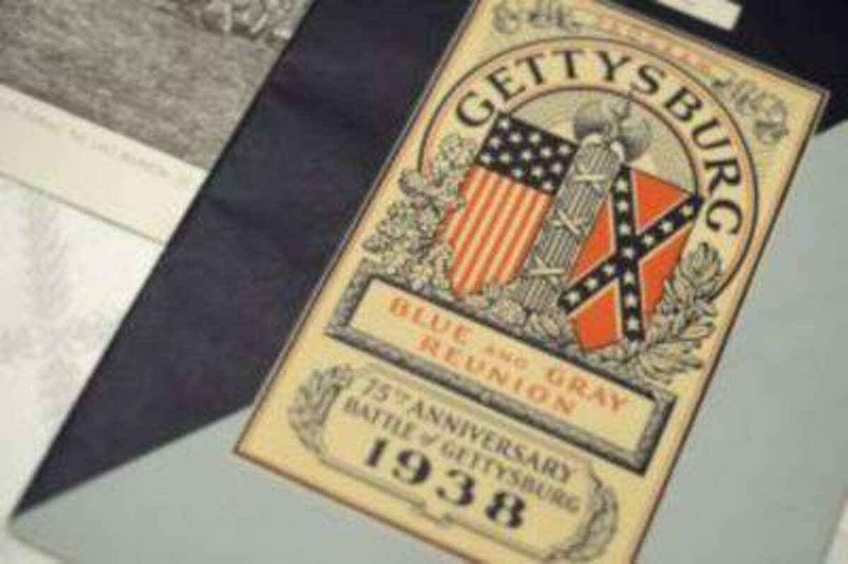 Richard D. Kohler has kept all his memorabilia from the 75th anniversary of the Battle of Gettysburg, which he attended when he was 14.