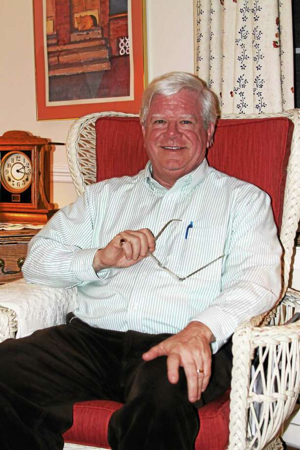 Steve McGrath discusses Litchfield's turbulent political past. Photo: Kathryn Boughton — County Times