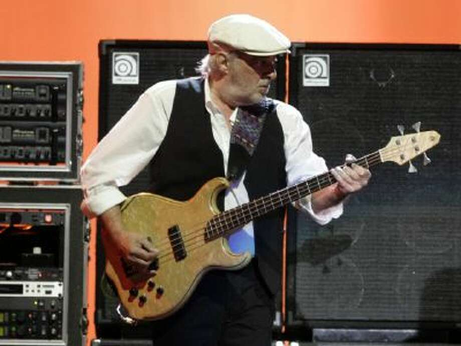 This March 1, 2009 photo shows Fleetwood Mac bass player John McVie performing on tour in Pittsburgh, Pa.