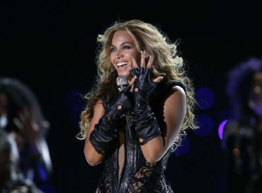 In this Feb. 3, 2013 photo, Beyonce performs during the halftime show of the NFL Super Bowl XLVII football game between the San Francisco 49ers and the Baltimore Ravens, in New Orleans.