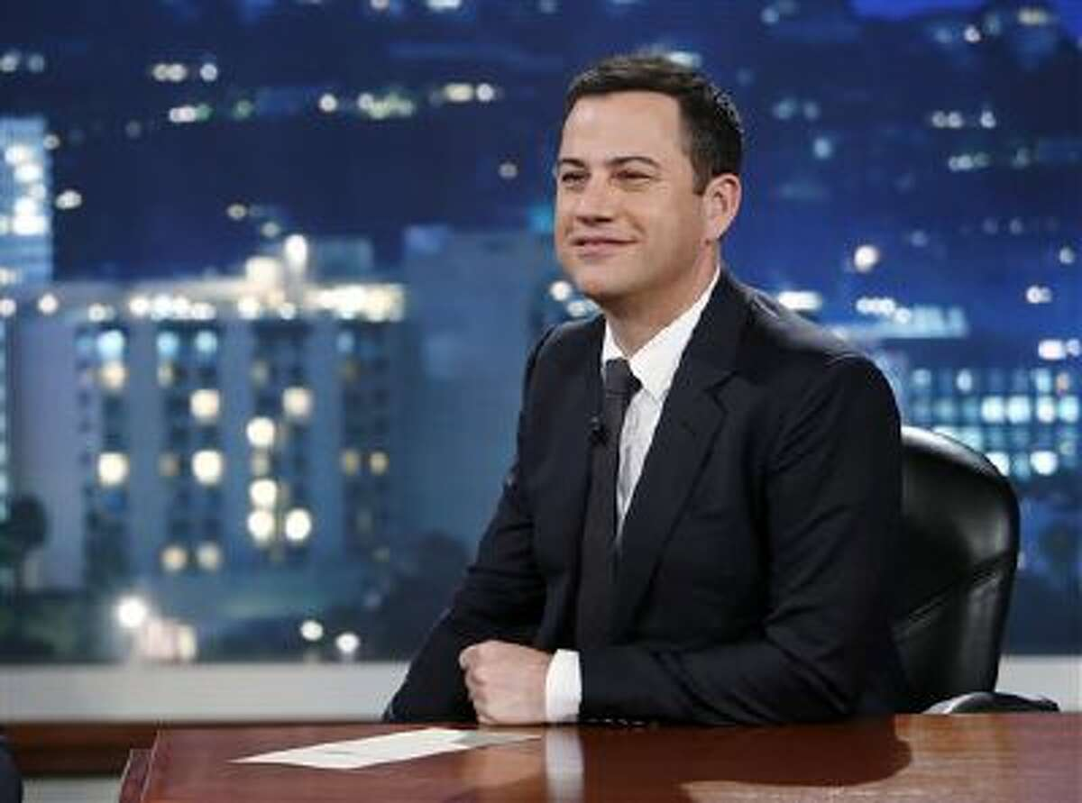 This photo released by ABC shows Jimmy Kimmel on
