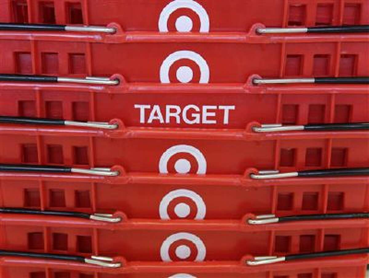Shopping baskets are stacked at a Chicago area Target store. Target says that about 40 million credit and debit card accounts customers may have been affected by a data breach that occurred at its U.S. stores in 2013.