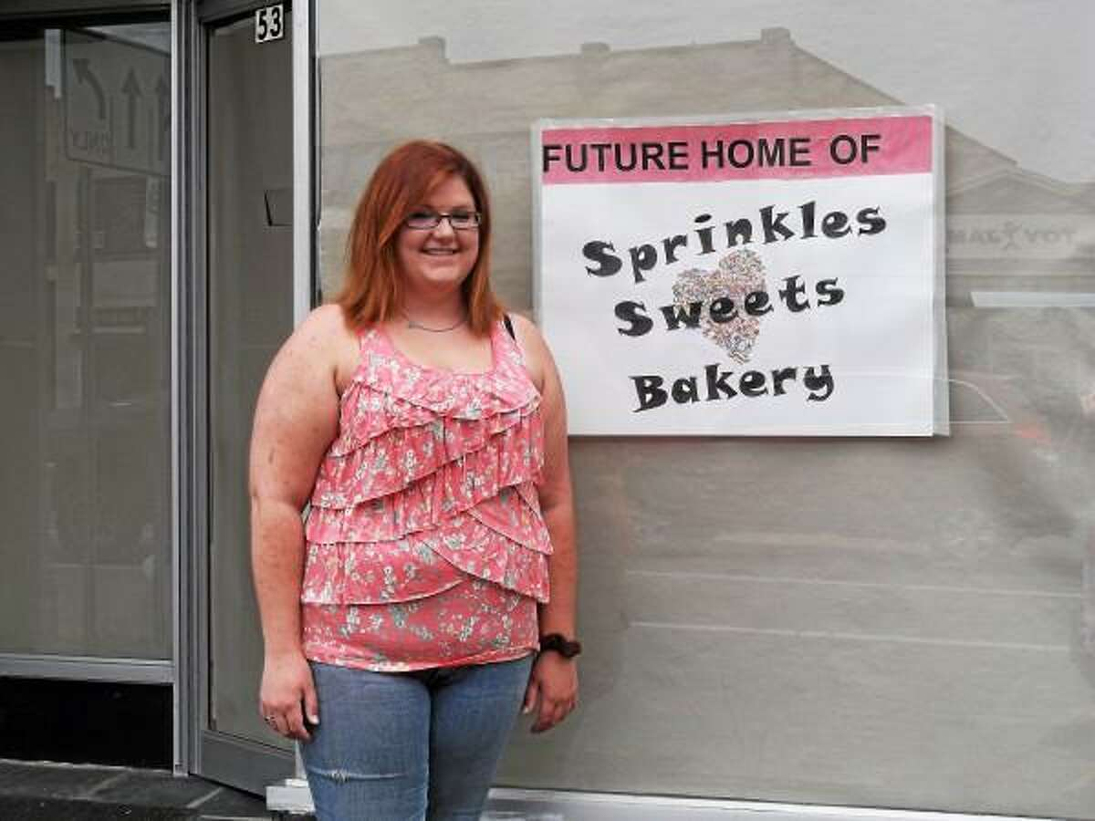 Stephanie Watts will soon fulfill her lifelong dream of opening Sprinkles Sweets Bakery at 53 Main St. in downtown Torrington. (Jenny Golfin-Register Citizen)