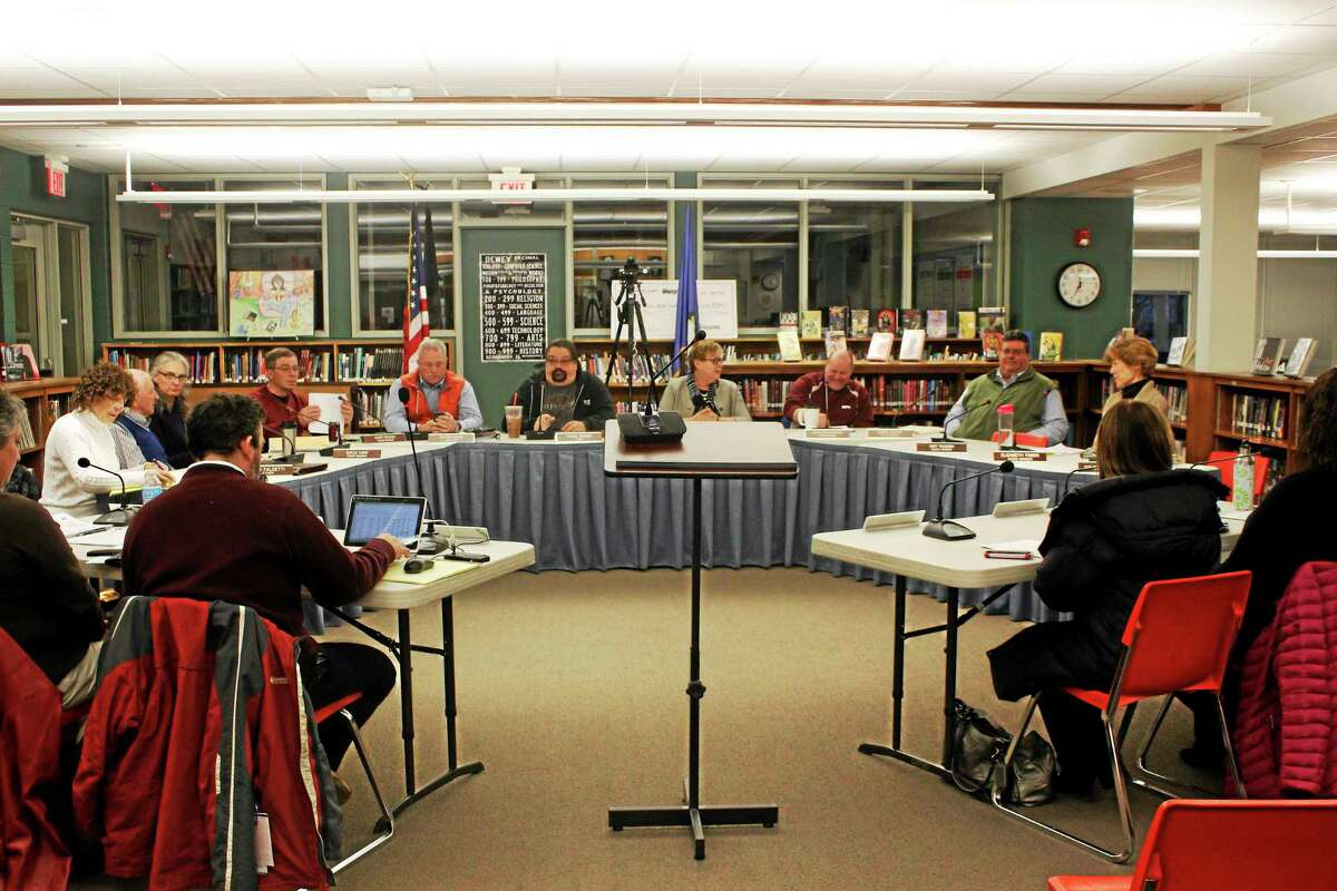 Members of the Litchfield Board of Education.