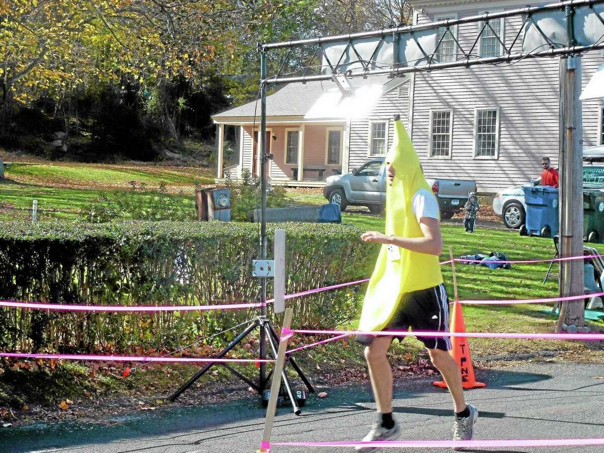 Casey Pastore of Naugatuck ran the race start to finish in his banana costume.