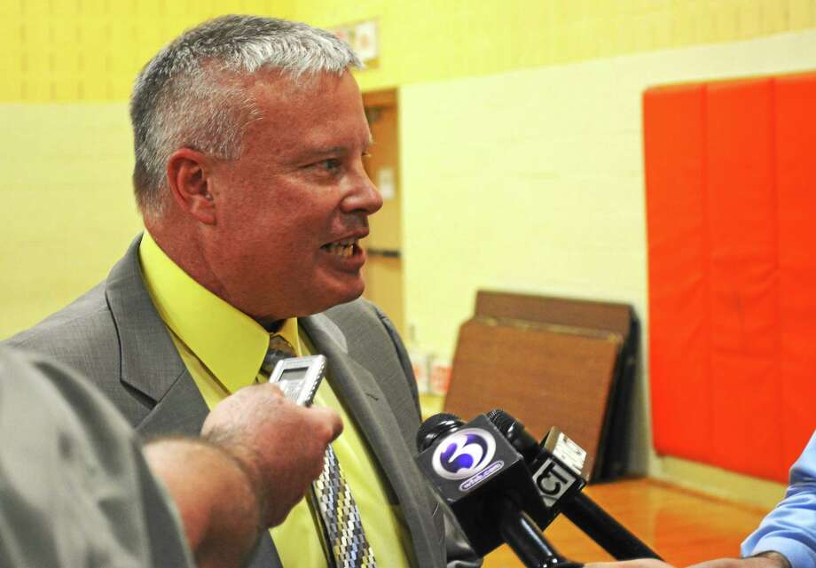 Dale Martin, who has served as Winsted's town manager since 2011, was suspended by the Board of Selectmen in a 5-2 vote in August. Members of the board voted to reinstate Martin Monday after losing enough votes to fire him in Saturday's special election. Photo: Register Citizen File Photo