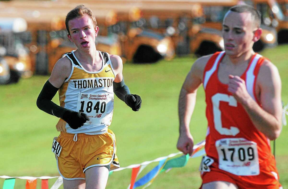 Luke McMahon of Thomaston finished in sixth place in Class S with a time of 17:15.