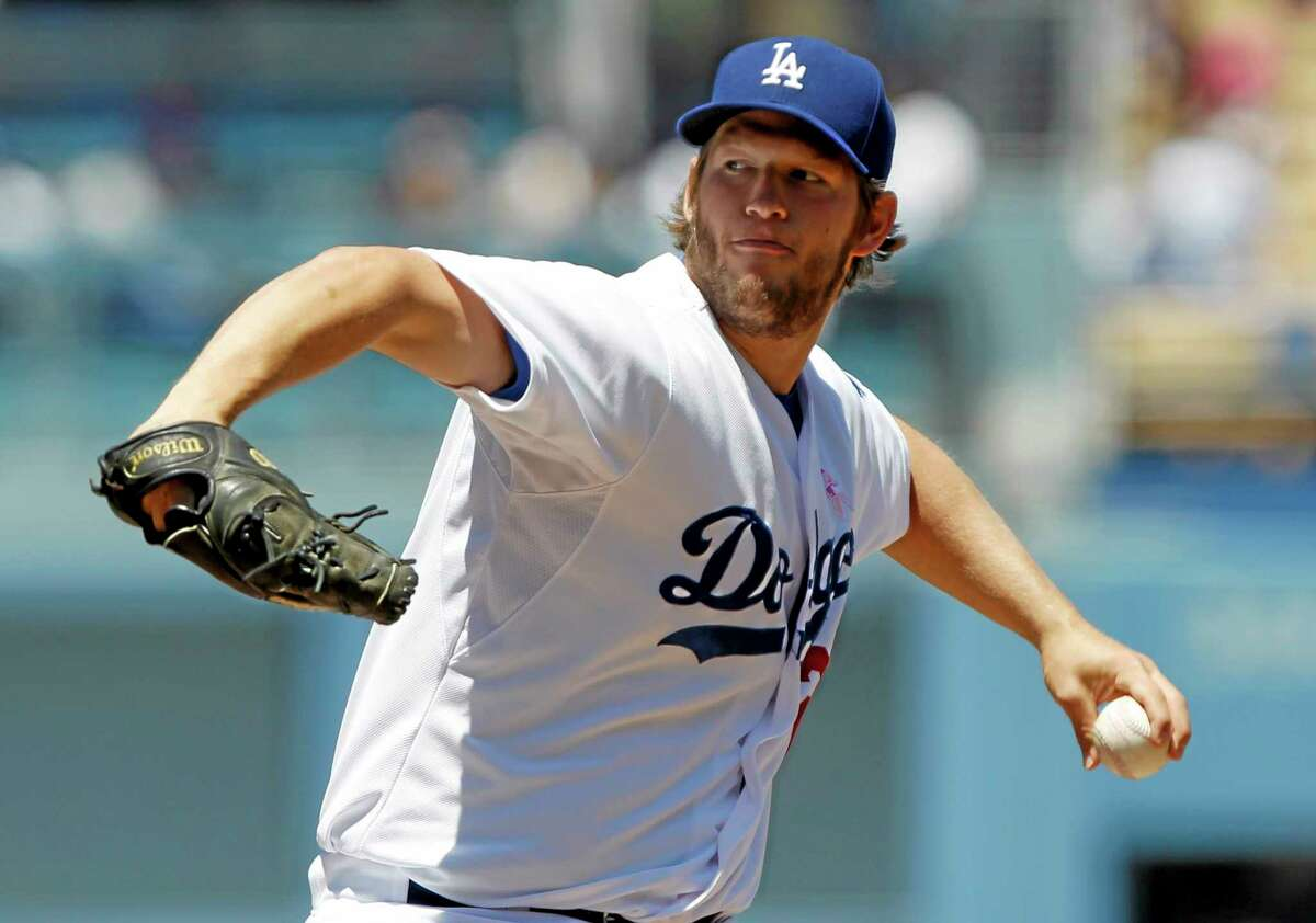 Dodgers starter Clayton Kershaw throws against the San Francisco Giants on Sunday in Los Angeles. Kershaw is your No. 1 fantasy baseball starting pitcher for the next 10 years.
