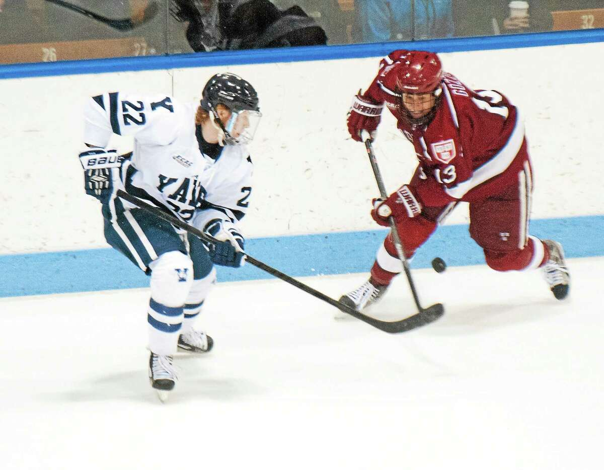 Yale playing in the Rivalry on Ice against Harvard at Madison Square Garden every season is just one of the roadblocks preventing them from committing to the Frozen Holiday Classic in Bridgeport. An annual all-Connecticut college hockey event, which seemed like a done deal just a month ago, is down to UConn and Sacred Heart. As Register sports columnist Chip Malafronte points out, Ivy League restrictions on the maximum number of non-league games ties Yale's hands, and Quinnipiac withdrew due to a scheduling conflict. The all-Connecticut event is not off the table, but it's certainly on the back burner.