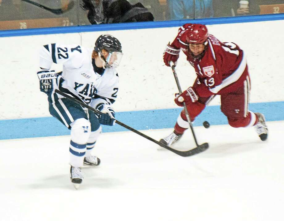 Yale playing in the Rivalry on Ice against Harvard at Madison Square Garden every season is just one of the roadblocks preventing them from committing to the Frozen Holiday Classic in Bridgeport. An annual all-Connecticut college hockey event, which seemed like a done deal just a month ago, is down to UConn and Sacred Heart. As Register sports columnist Chip Malafronte points out, Ivy League restrictions on the maximum number of non-league games ties Yale's hands, and Quinnipiac withdrew due to a scheduling conflict. The all-Connecticut event is not off the table, but it's certainly on the back burner. Photo: Melanie Stengel — Register File Photo  / PETER HVIZDAK