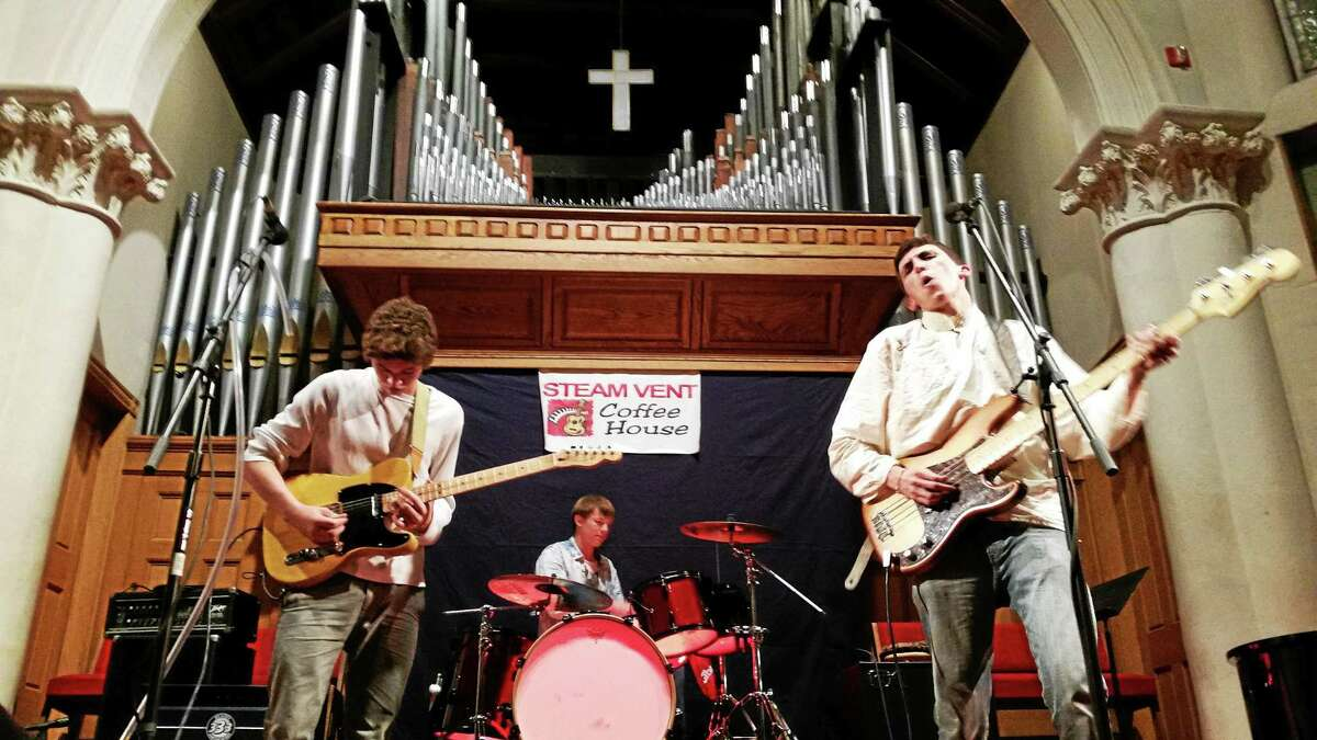 The CRB revisited hard-rock classics by Jimi Hendrix and The Rolling Stones at the Steam Vent Coffee House monthly open mic event on Saturday at First Church of Winsted, which benefited baby Zoe Rose's cause.