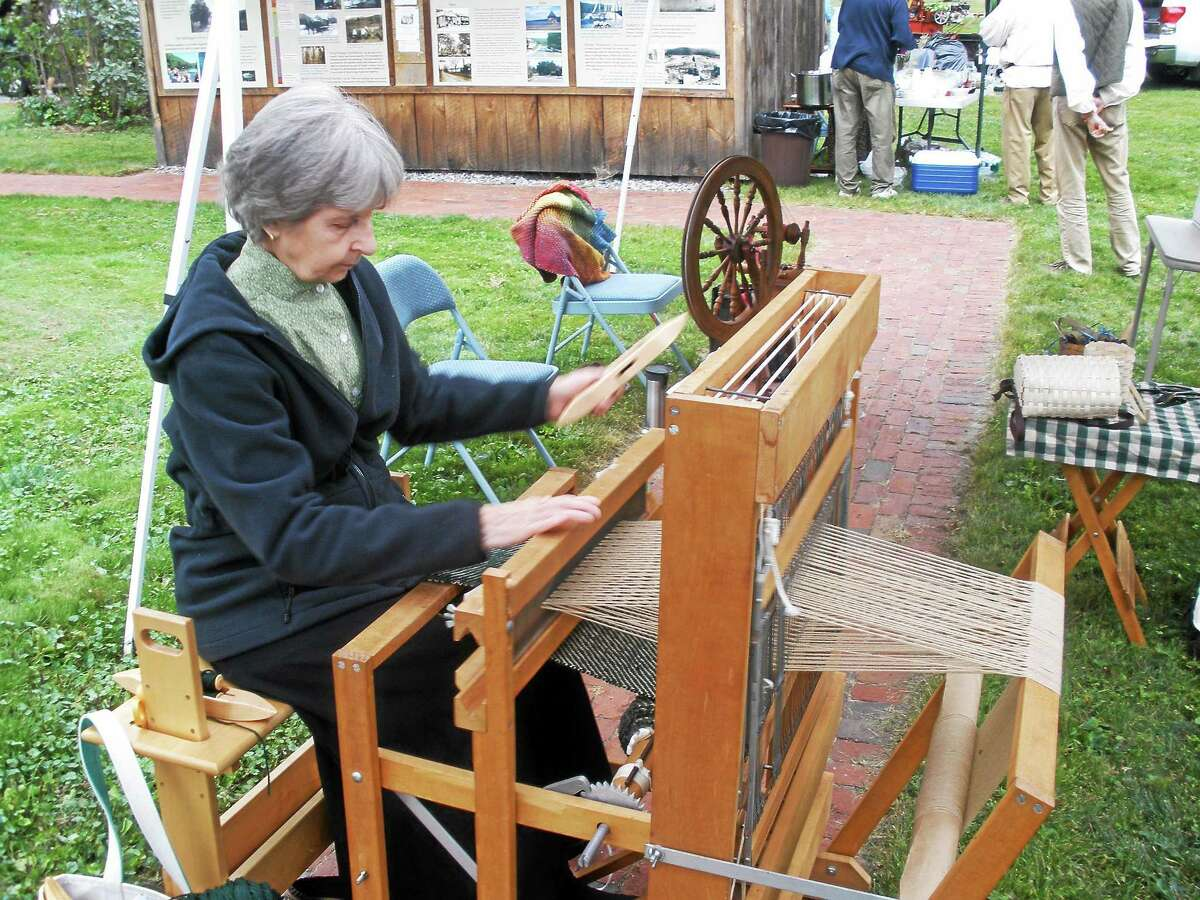 Stephen Underwood/Register Citizen Hand looming and other skills were displayed by experienced craftspeople during Old Barkhamsted Day on Sunday.