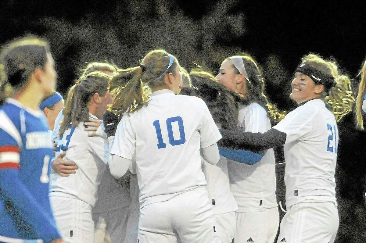 The Lewis Mills girls soccer team has clinched the Berkshire League title with a 15-0 record this season.