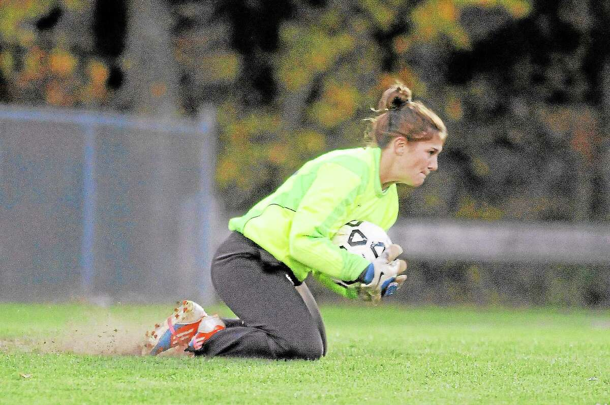 Nonnewaug's goalie Megan Mitchell made 12 saves in the loss.