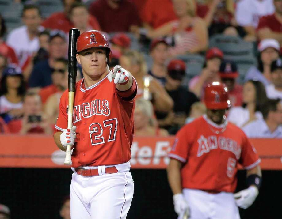 Thanks to a recent 17-5 stretch, Mike Trout and the Angels maintained their spot as the top team in the Register rankings. Photo: The Associated Press  / AP